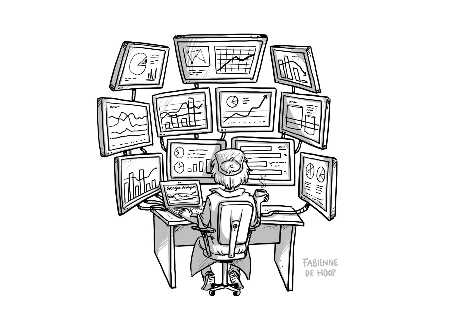Data analyses als cartoon vormgegeven