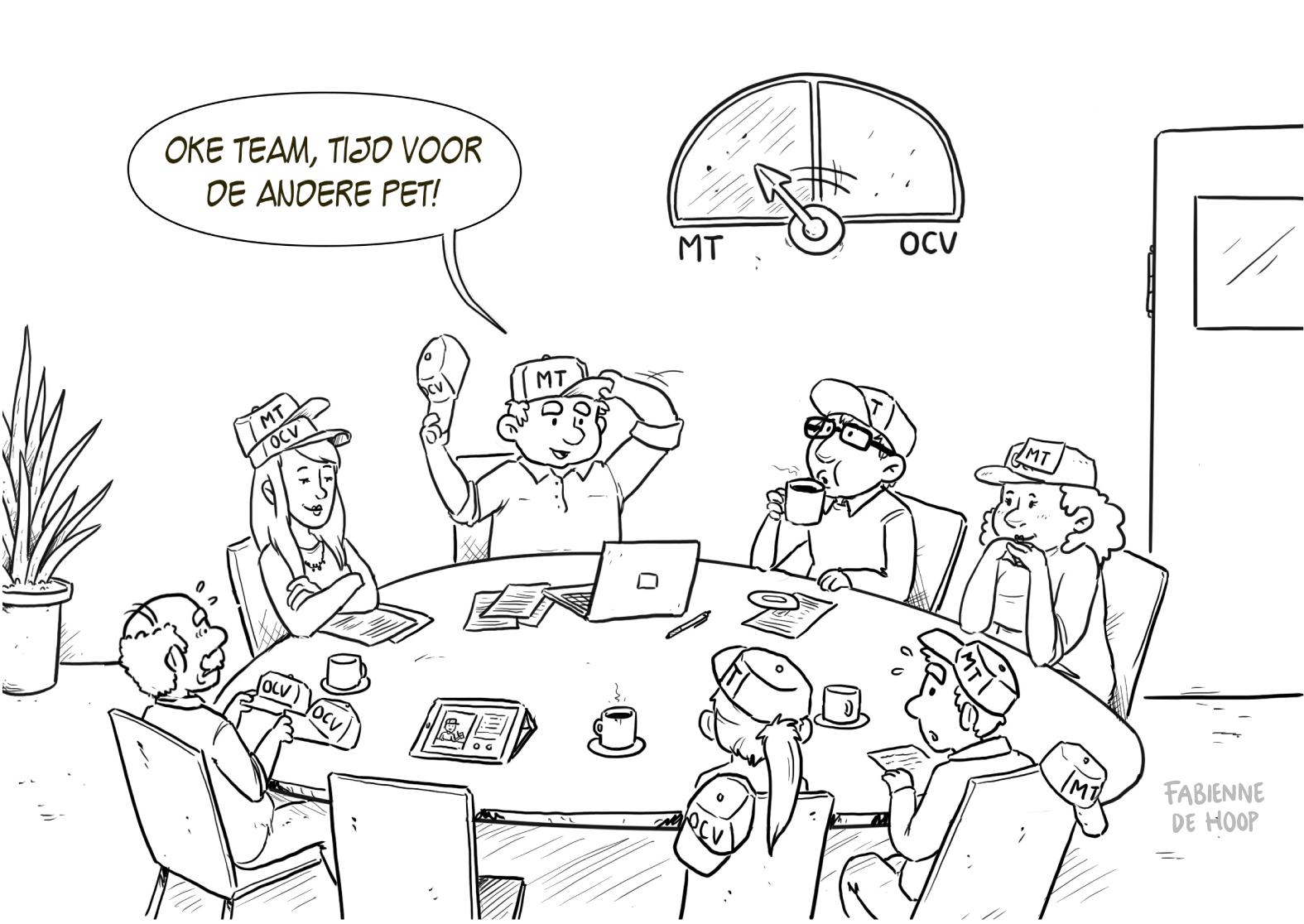 Visualiseer vergaderingen met een cartoon