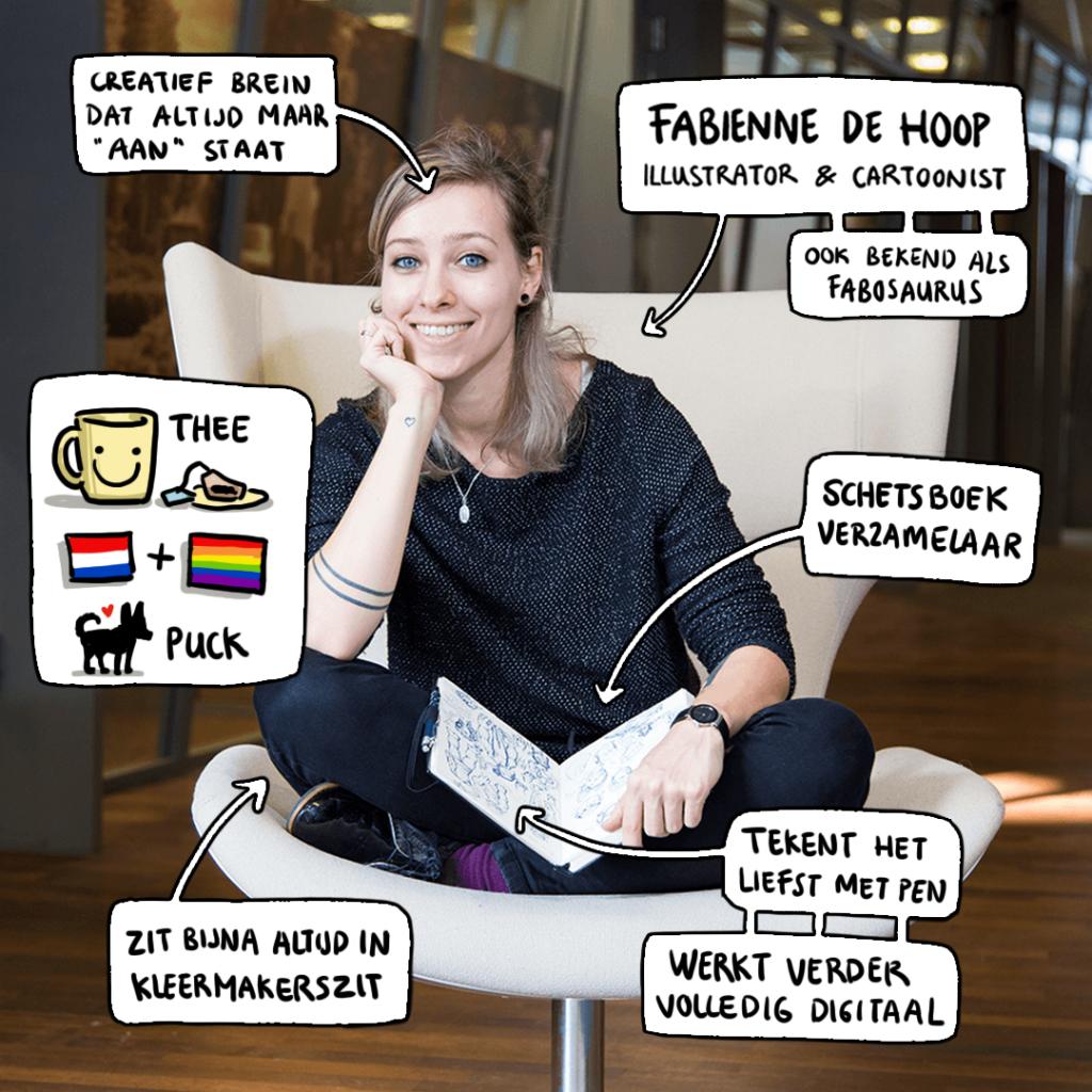 Illustrator en cartoonist Fabienne de Hoop
