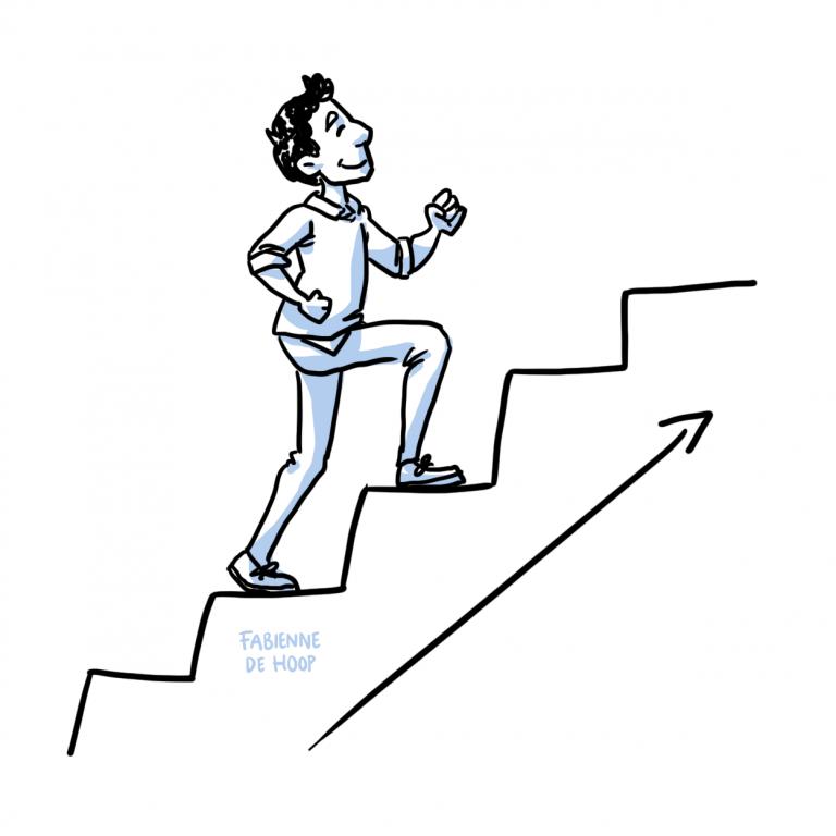 Bedrijfsontwikkeling cartoon voor BincQ