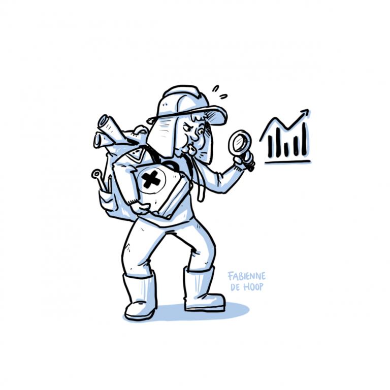 Risico management cartoon
