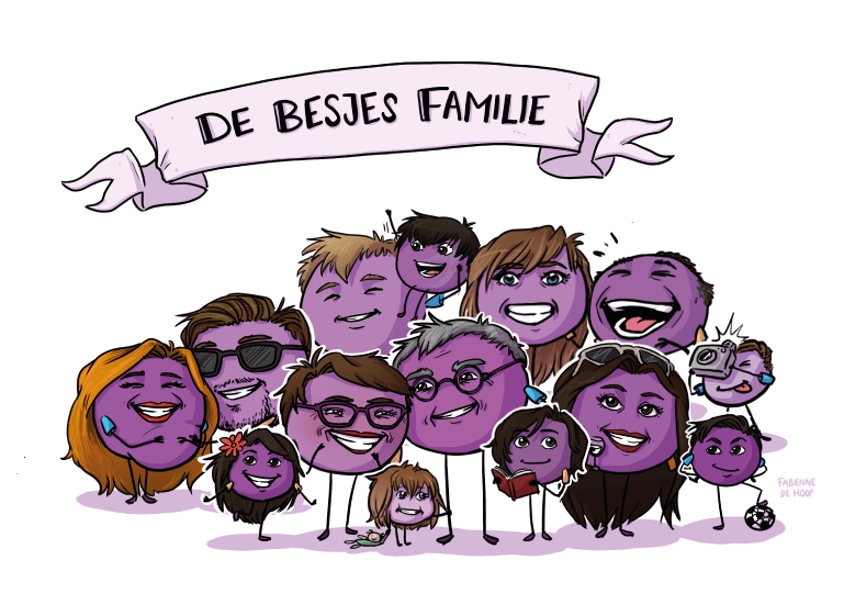 Familie portret van besjes