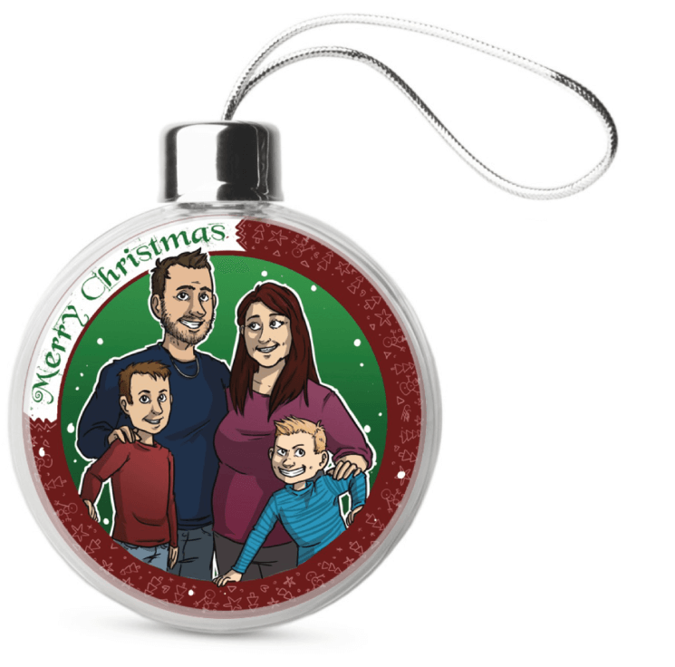 Familie portret voor kerst