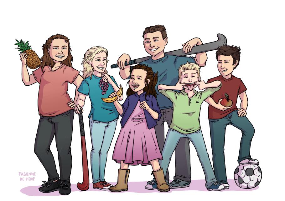 Familie portret van kleinkinderen