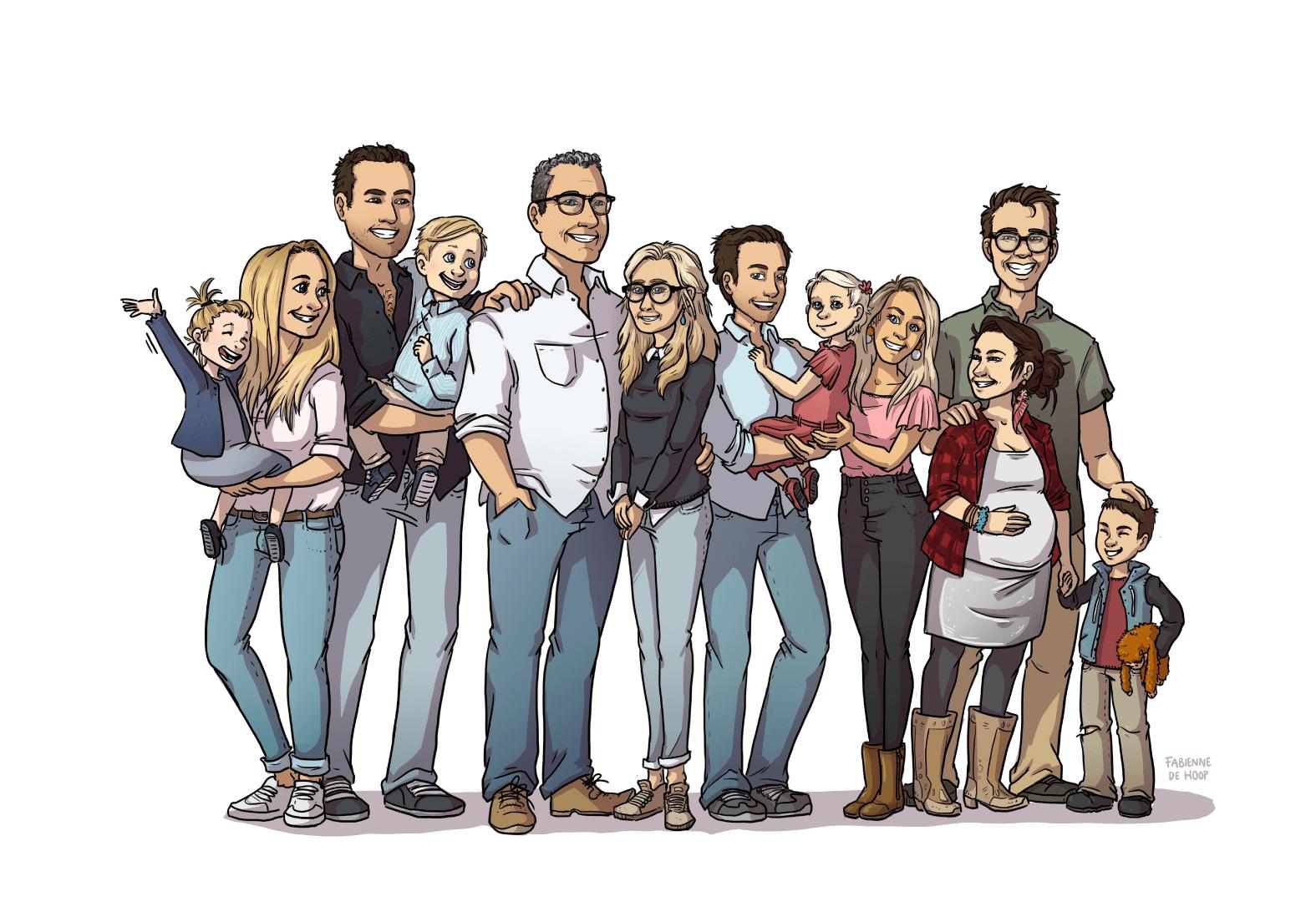 Groot familie portret