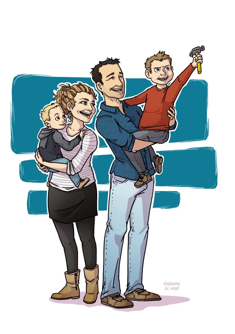 Familie portret voor Marijke