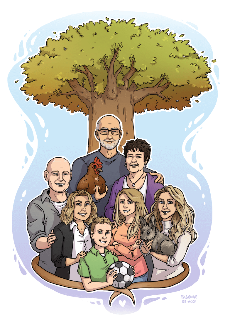 Familie portret van stamboom