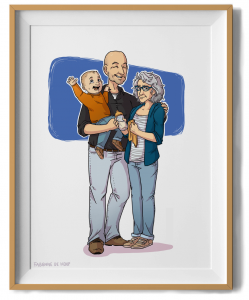 Familie portret in lijstje