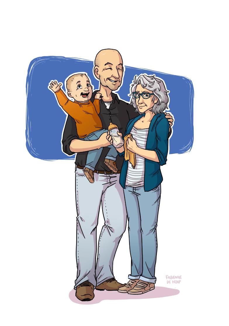 Familie portret van grootouders