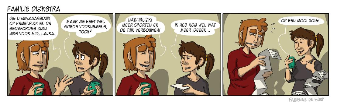 Familie dijkstra goede voornemens strip