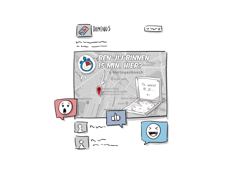 Social media illustratie voor pitch