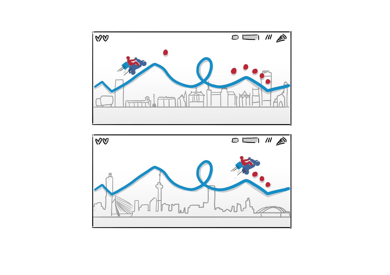 Concept schets voor Dominos