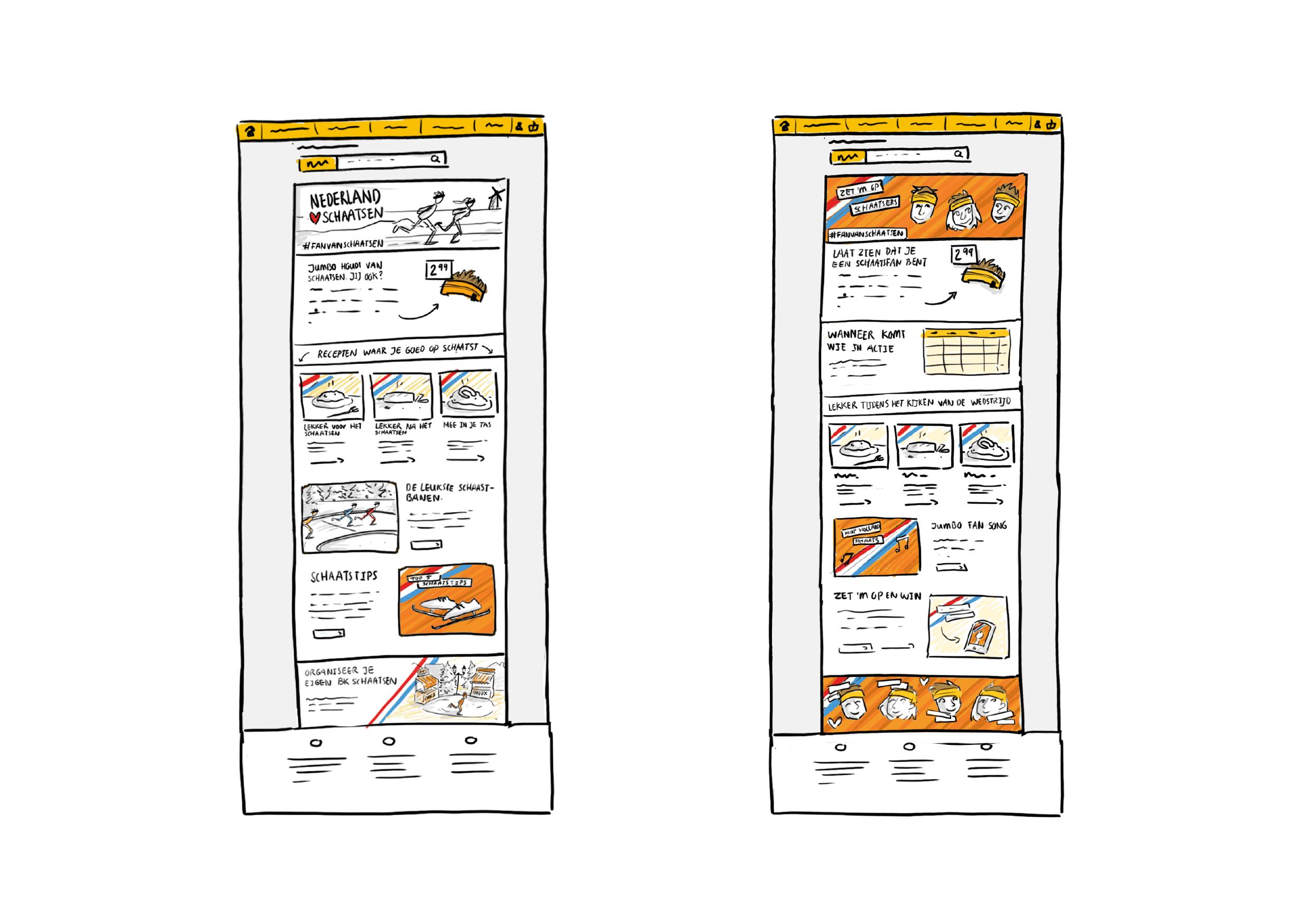 Jumbo website concept illustratie