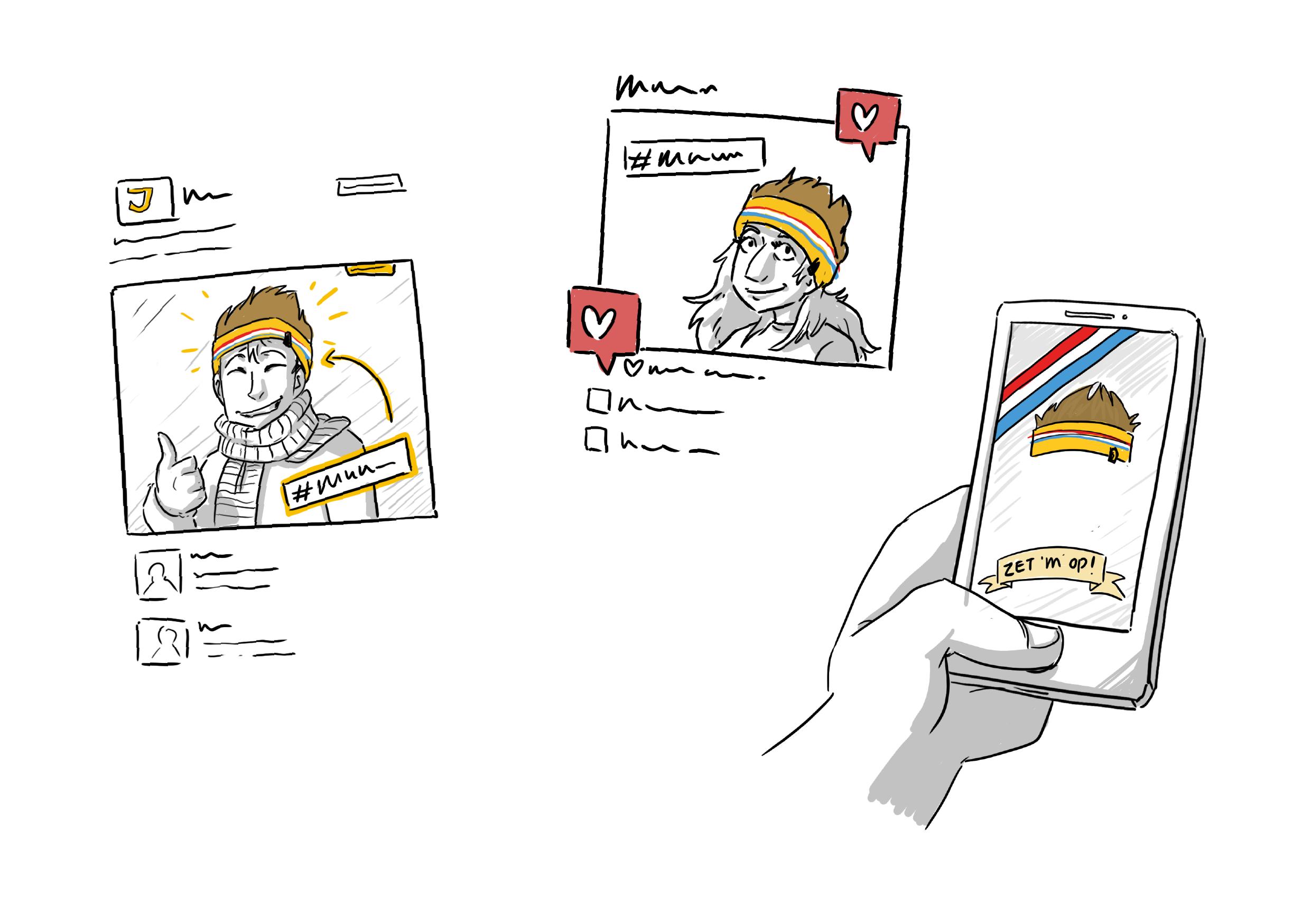 Jumbo supermarkten illustratie