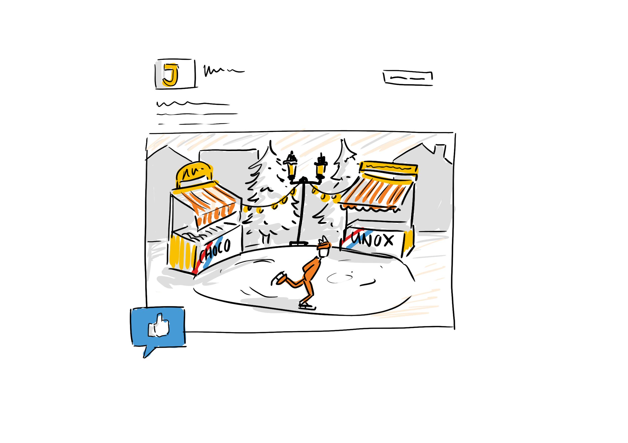Social media concept illustratie Jumbo