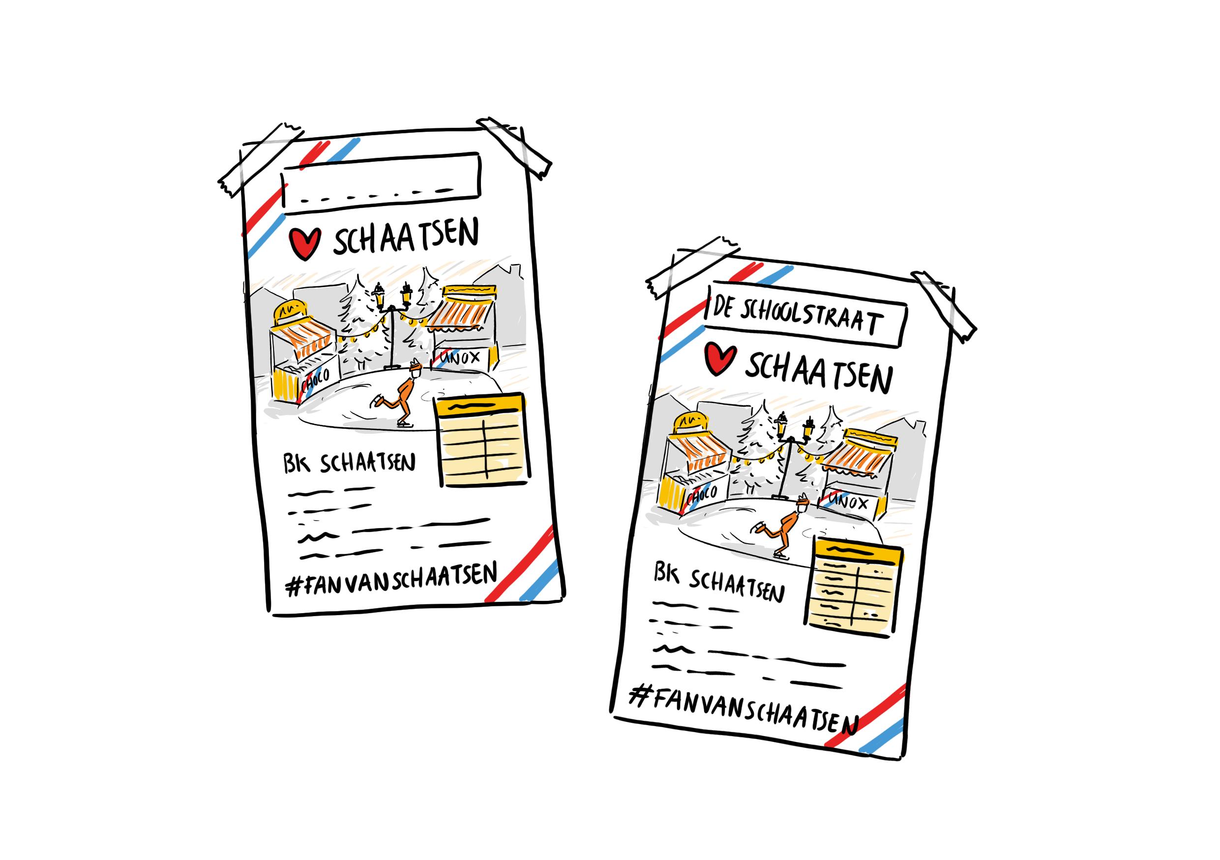 Concept schetsen voor Jumbo Supermarkten