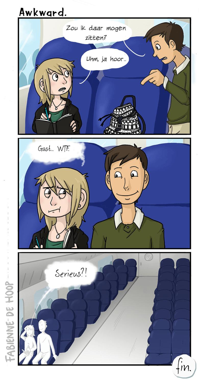 Ongemakkelijk in de trein