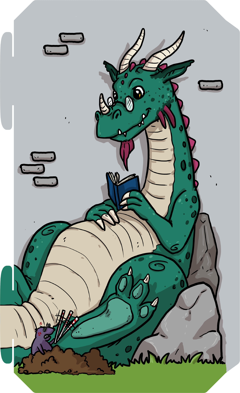 Grote draak op speelkasteel Family Fortress