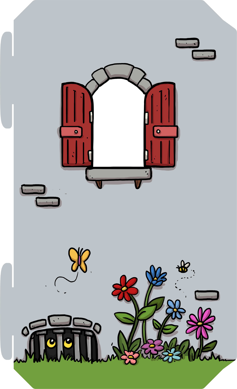 Raam met bloemen