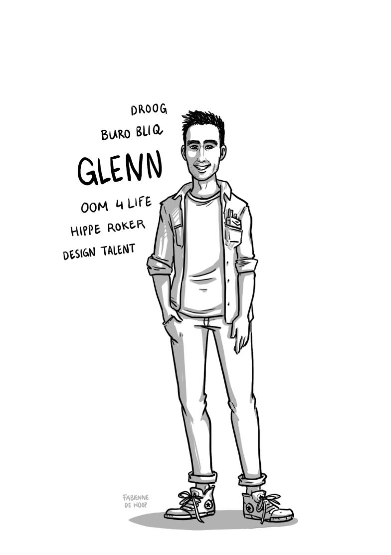 Zakelijk portret van Glenn